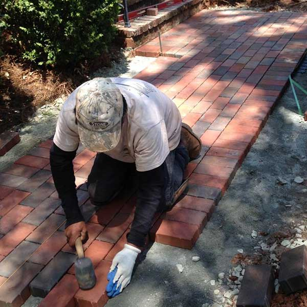 A Sharper Image Residential Brick Paths in Guilford County